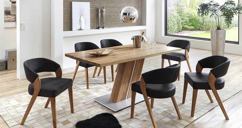 Обзавеждане за всекидневна - комплект маса и 6 стола