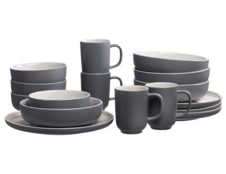 Керамичен сервиз в сиво - отделни части