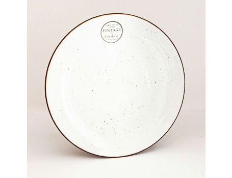 Десертна чиния - цвят бяло
