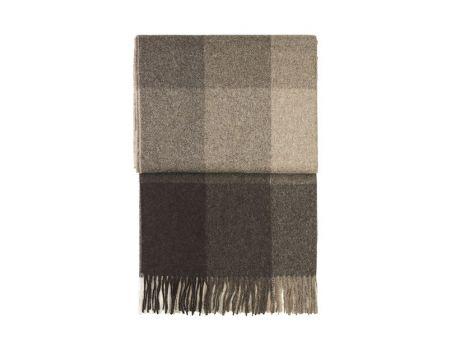 Луксозно одеяло от вълна алпака - кафяво