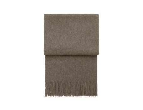 Стилно одеяло от вълна алпака - цвят мока