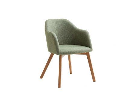 Тапициран стол - цвят зелено