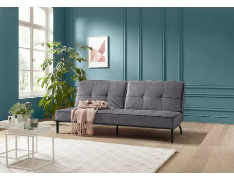 Стилен разтегателен диван - тъмно сиво