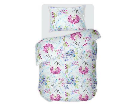 Единично спално бельо с цветя