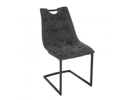 Стилен стол в черно