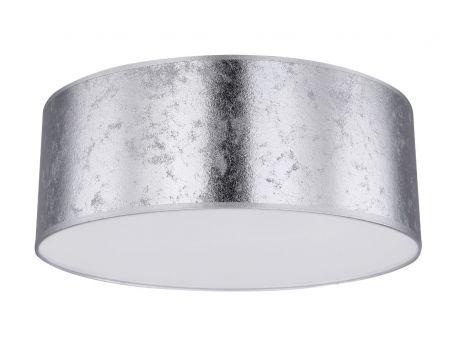 Таванска лампа в сребристо