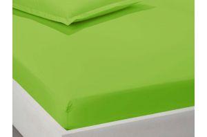 Чаршаф с ластик 160х200 - Зелен