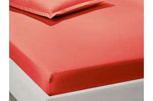 Чаршаф с ластик 160х200-Червен
