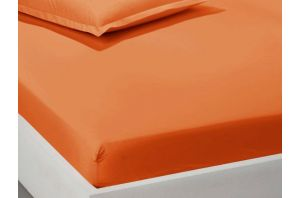 Чаршаф с ластик 160х200-Оранжев