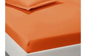 Чаршаф с ластик 180х200 - оранжево