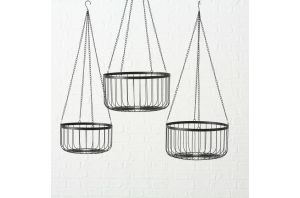 Висяща кошница - различни височини