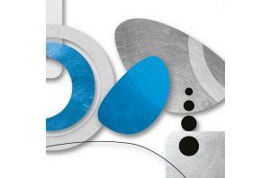 Метална картина BLUE ELEMENTS